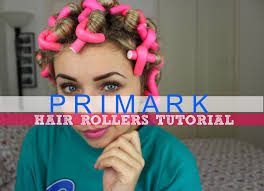 how to put rollersin extra short hair primark hair rollers tutorial overnight heatless curls youtube