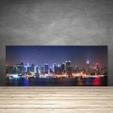 panneau credence cuisine crédence de cuisine en verre panneau 125x50 bâtiments ville gratte