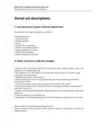 Dental Assistant Job Description For Resume Dentist Job Duties Dentist Job Description Full Time Registered