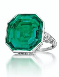 an art deco emerald and diamond ring by cartier christie u0027s