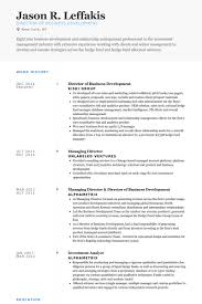 Sample Resume For Business Development Manager by Director Of Business Development Resume Samples Visualcv Resume