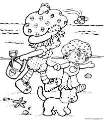 summer beach strawberry shortcake 3801 coloring pages printable