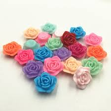 flower bead necklace images Free shipping 20pcs lot 20mm acrylic rose flower beads diy jewelry jpg