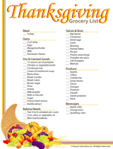 thanksgiving grocery list printable familyeducation