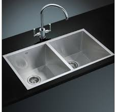 Kitchen Laundry Sink Hand Made Double Bowl Mm X Mm Square - Deep stainless steel kitchen sinks