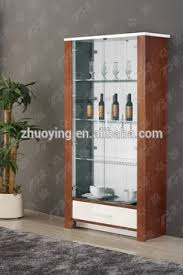 wooden furniture living room glass showcase