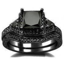 black engagement ring set buy black engagement rings shop now and save