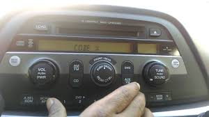 honda odyssey anti theft radio code honda odyssey 2005 radio code reset how to