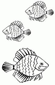 sea creature coloring pages three fish