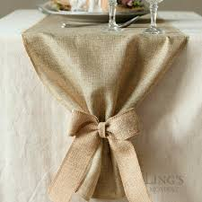 Shabby Chic Table by Faux Burlap Table Runner Shabby Chic Table Cloth Vintage Wedding