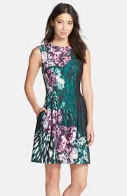 vince camuto floral scuba fit u0026 flare dress available at