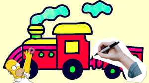 drawing train step by step for kids how to draw train simple for