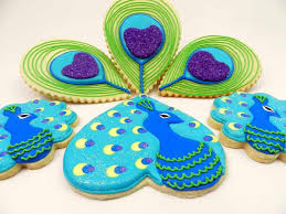 peacock favors flour box bakery peacock cookies with a twist