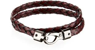 leather bracelet woven images Lyst tod 39 s woven leather bracelet in purple for men jpeg