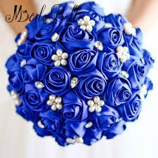 Blue Wedding Bouquets Aliexpress Com Buy Royal Blue Wedding Bouquet Brooch Crystal