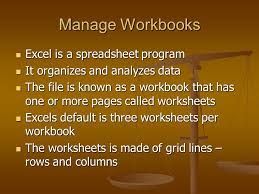 excel introducing excel lesson 1 manage workbooks excel is a