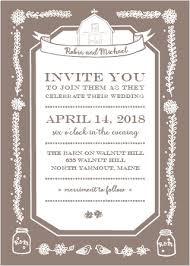 rustic wedding invites rustic wedding invitations match your color style free