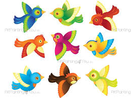cute birds kit wall stickers vdan1009en artpainting4you eu cute birds kit animals wall decals