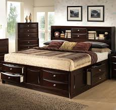 Headboards For California King Lifestyle C0172 King California King Storage Bed W Bookcase