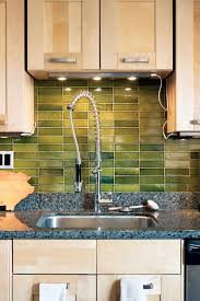 green kitchen tile backsplash ideas for green kitchen tile backsplashes home designing