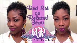 short straw set hairstyles rod set relaxed hair youtube