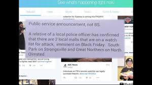 south park black friday police investigate social media threats against two local malls