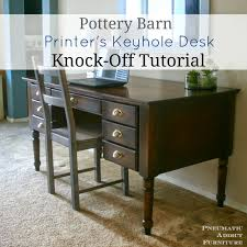 Pottery Barn Desk Pneumatic Addict Pottery Barn Printer U0027s Keyhole Desk Knock Off