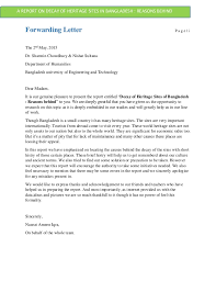 forwarding letter report on decay of heritage in bangladesh reasons behin