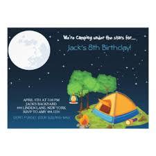 camping birthday invitations u0026 announcements zazzle