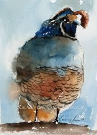 california quail print quail art print quail painting quail 5 x7