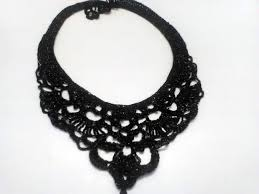 crochet necklace black images Crocheted necklaces 2 cristina my crochet jpg