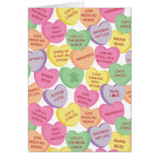 heart candy sayings candy gifts on zazzle