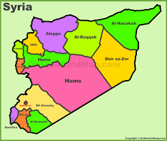 map of syria administrative divisions map of syria