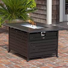 Rectangle Fire Pit - fire sense extruded aluminum propane fire pit table u0026 reviews