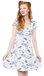 Nautical Theme Dress - steady retro diver dress ivory this nautical themed dress will