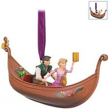 rapunzel and flynn in boat ornament 2010 from fantasies come