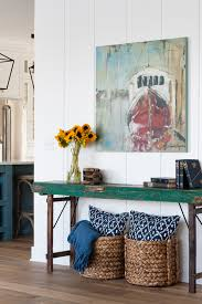 Turquoise Console Table Green Console Table The Lilypad Cottage