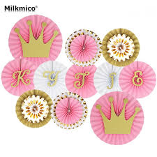 background decoration for birthday party at home milkmico party decoration set hanging paper fans tissue sets for