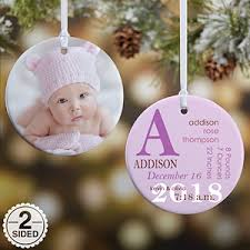personalized baby christmas ornament personalized baby photo christmas ornaments baby birth