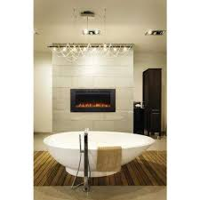 Wall Mounted Electric Fireplace Wall Mount Electric Fireplaces Fireplaces The Home Depot