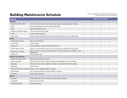 Home Building Budget Spreadsheet by Building Maintenance Schedule Excel Template Home Maintenance