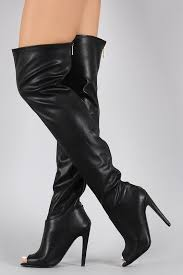 s qupid boots qupid thigh high peep toe boot clothes shoes