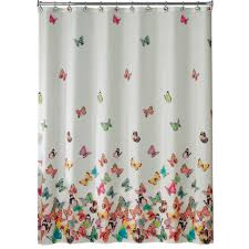 Beautiful Shower Curtains by Essential Home Tahka Butterfly Fabric Shower Curtain