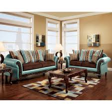 Blue Sofas And Loveseats Furniture Of America Destane 2 Piece Teal Transitional Sofa Set