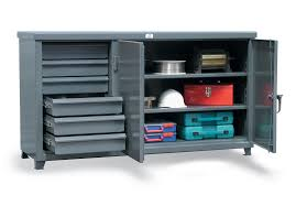 strong hold products workbench with steel top and 6 drawers