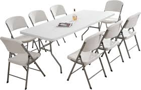 8 Seater Square Dining Table Designs Plastic Folding Table And Chairs Premium Plastic Folding Chairs