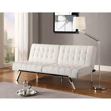 Leather White Sofa Dhp Emily Convertible Futon Multiple Colors Walmart Com