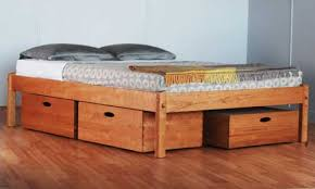 wood bed frame with drawers fascinating platform beds with storage at bed frame drawers scott