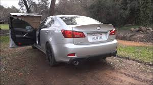 lexus is350 f sport austin lexus is350 muffler delete custom exhaust tips youtube