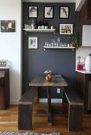 small apartment dining room ideas mini budget modern wall room rail design chair table small c